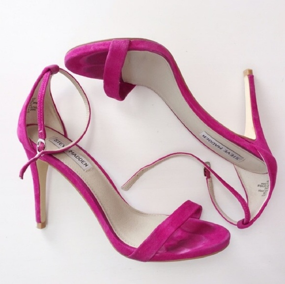 Steve Madden Stecy Heels In Hot Pink